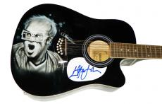 Elton John Autographed Signed 12 String Airbrushed Guitar