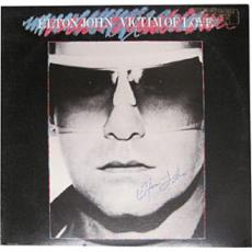 Elton John Autographed/Signed Victim of Love Wax Record