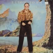 Elton John & Bernie Taupin Autographed Caribou Album Cover - PSA/DNA COA