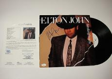 Elton John 'breaking Hearts' Signed Record Album Lp Jsa Loa Coa #y57071