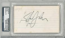 Elton John & Dudley Moore Signed Authentic Encapsulated 3x5 Index Card PSA/DNA