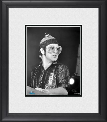 "Elton John Framed 8"" x 10"" Performing in Big Glasses Photograph"