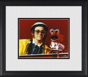 "Elton John Framed 8"" x 10"" Playing Piano in Yellow Suit Photograph"