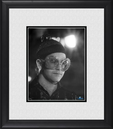"Elton John Framed 8"" x 10"" Wearing Sparkle Glasses Photograph"
