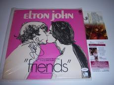 Elton John Freinds Jsa/coa Signed Lp Record Album