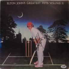 Elton John Greatest Hits Volume Ii Signed Autographed Album Psa/dna Q31368