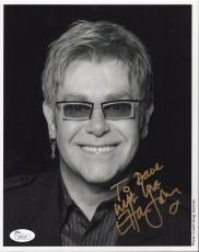 ELTON JOHN HAND SIGNED 8x10 PHOTO        AWESOME+VERY RARE      TO DAVE      JSA