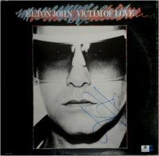 Elton John Hand Signed Autographed Record Cover Victim Of Love JSA Z37711