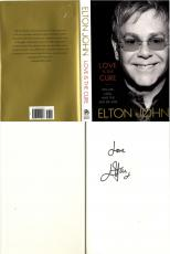 Elton John Loves The Cure Book Autographed Signed Title Page AFTAL UACC RD COA