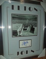Elton John Music Legend Classic Signed Autographed Matted & Framed Psa/dna Coa