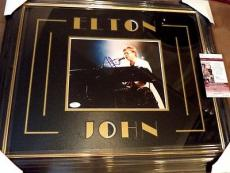 Elton John Music Legend Jsa Coa Signed Autographed 8x10 Photo Matted Framed Rare