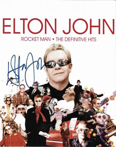 Elton John Music Legend Signed Autographed 8x10 Photo W/coa Authentic Rare A