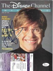 Elton John Music Legend Signed Autographed Disney Magazine W/coa Authentic Rare