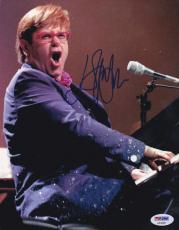 Elton John Signed 8x10 Photo Piano Legend Authentic Autograph Rocket Man Psa/dna