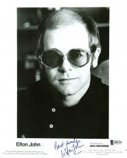 Elton John Signed 8X10 Promotional Photo Autographed BAS #B81292