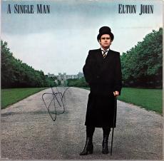 Elton John Signed A Single Man Album Cover Autographed JSA #X26422