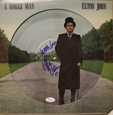 "ELTON JOHN signed ""A Single Man"" picture disc -JSA COA X81069"