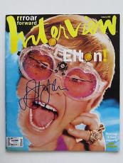 Elton John Signed Authentic Autographed Interview Magazine PSA/DNA #T32659