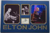 Elton John Signed Authentic Autographed Matted Display PSA/DNA #AD35138