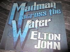 Elton John Signed Autograph Album Madman Across The Water Yellow Brick Road D