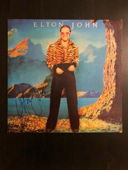 Elton John Signed Autograph - Vinyl Album Record Lp - Caribou, Yellow Brick Road