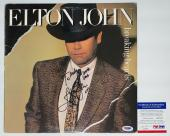 Elton John Signed Breaking Hearts Record Album Psa Coa M82459