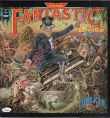 Elton John Signed Captain Fantastic Record Album Jsa Loa Y57044