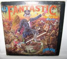 Elton John Signed 'captan Fantastic' Album Cover Autograph Jsa Coa