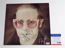 Elton John Signed Caribou Record Album Insert Psa Coa I39015