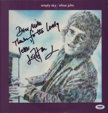 Elton John Signed Empty Sky Record Album Psa Coa Ad48368