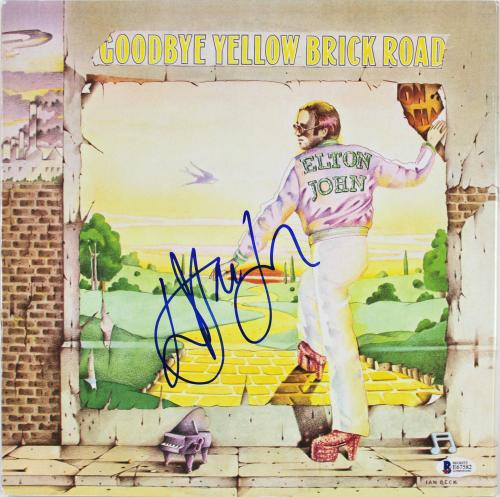 Elton John Signed Goodbye Yellow Brick Road Album Cover W/ Vinyl BAS #E67582