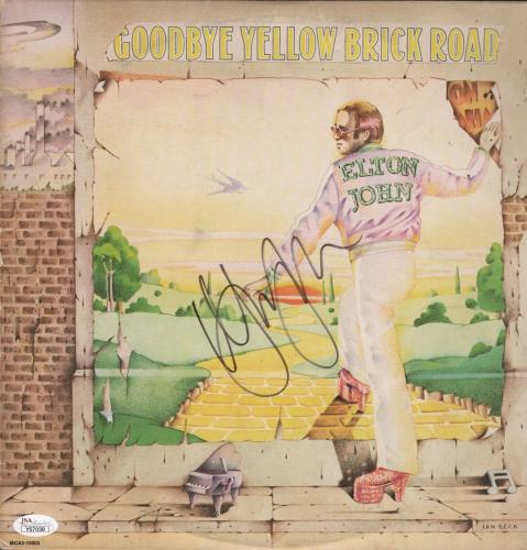 Elton John Signed Goodbye Yellow Brick Road Record Album Jsa Loa Y57039