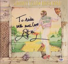 Elton John Signed Goodbye Yellow Brick Road Record Album Psa Coa Aa68540