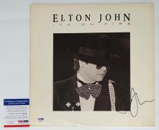 Elton John Signed Ice On Fire Record Album Psa Coa P64286