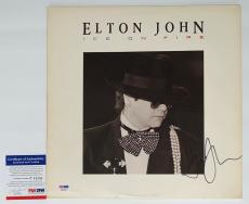 Elton John Signed Ice On Fire Record Album Psa Coa P64286