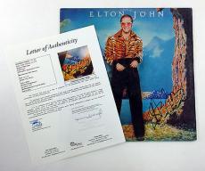 Elton John Signed LP Record Album Caribou w/ JSA AUTO