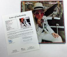 Elton John Signed LP Record Album Greatest Hits w/ JSA AUTO