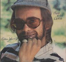 Elton John Signed Rock Of The Westies Record Album Psa Coa J45189