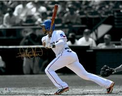 Elvis Andrus Texas Rangers Autographed 11'' x 14'' Spotlight Photograph - Mounted Memories