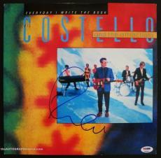 "Elvis Costello Autographed ""Everyday I Write The Book"" Album Signed PSA DNA COA"