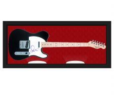 Elvis Costello Autographed Signed Guitar & Custom Display Case UACC RD AFTAL
