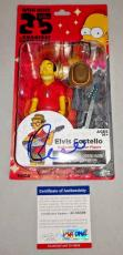 ELVIS COSTELLO signed autographed SIMPSONS TOY ACTION FIGURE PSA/DNA COA!