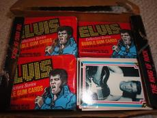 Elvis Presley 29 Unopened Packs Of Trading Cards From 1978 Plus Original Box