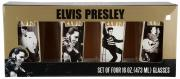 Elvis Presley 4 PC 16 oz Glass Set