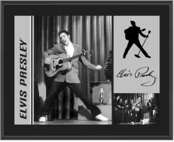 PRESLEY, ELVIS (50'S ON STAGE) SUBLIMATED Photo PLAQ (10x13 BOARD)