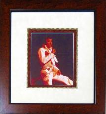 Elvis Presley Autographed Framed 8x10 Photo (JSA)