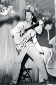 Elvis Presley Autographed Facsimile Signed Black And White Live 1955 Poster