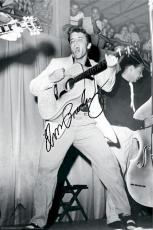 Elvis Presley Autographed Facsimile Signed Black And White Live 1955 Poster