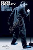 Elvis Presley Autographed Facsimile Signed Blue Suede Shoes Poster