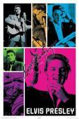 Elvis Presley Autographed Facsimile Signed Color Poses Poster